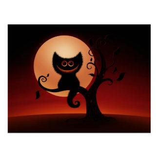 Gatito de Halloween Postales