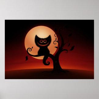 Gatito de Halloween Póster