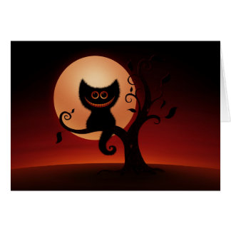 Gatito de Halloween Tarjeta De Felicitación