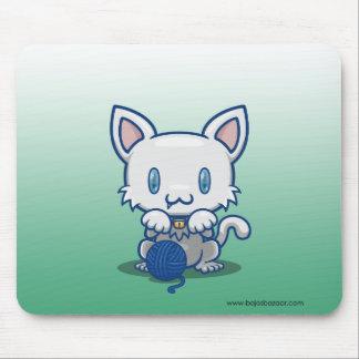 Gatito de Kawaii (blanco) Mouse Pad