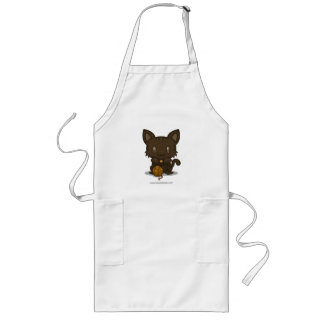 Gatito de Kawaii (Brown rayado) Delantal Largo