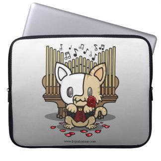 Gatito de Kawaii (fantasma de la ópera) Funda Computadora