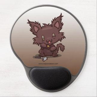 Gatito de Kawaii (hombre lobo) Alfombrillas De Raton Con Gel
