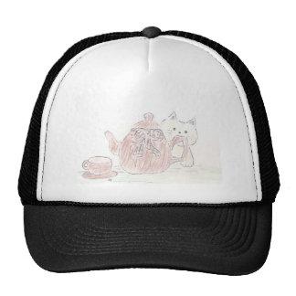 Gatito de la caldera de té gorras