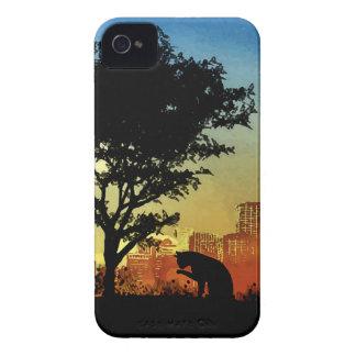 Gatito de la ciudad iPhone 4 carcasas