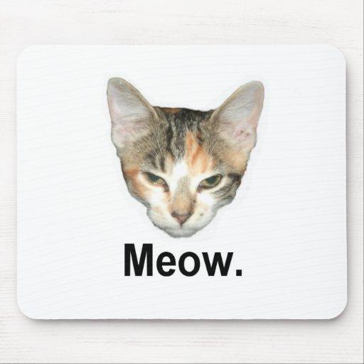 Gatito de la conquista tapetes de ratón