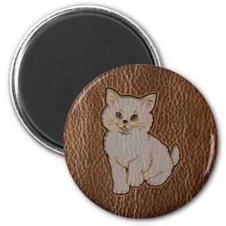 Gatito de la Cuero-Mirada Iman Para Frigorífico