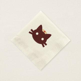 Gatito de la enfermera servilleta de papel