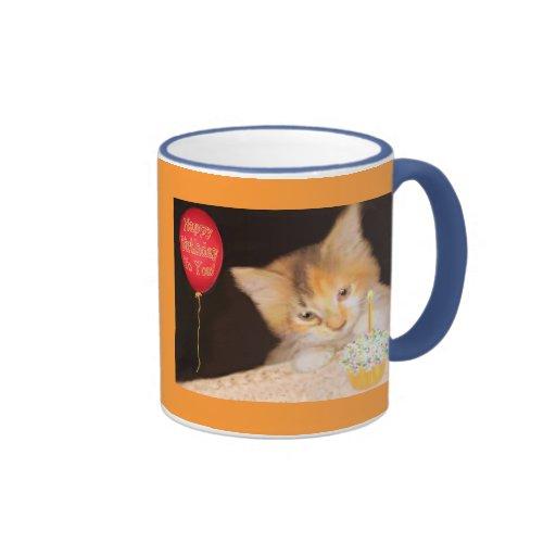 Gatito de la magdalena taza a dos colores