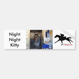 Gatito de la noche de la noche pegatina para auto