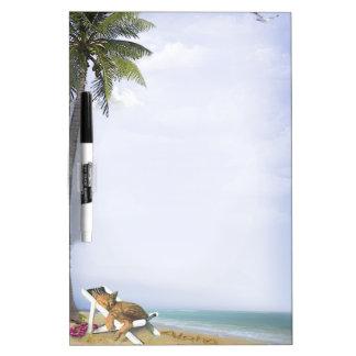 Gatito de la playa pizarras blancas de calidad