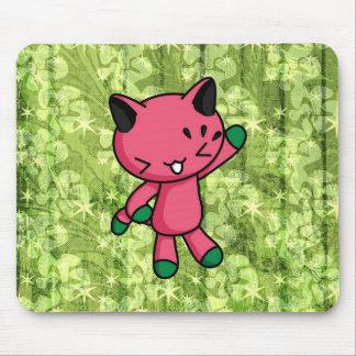 Gatito de la sandía tapetes de ratón