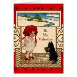 Gatito de la tarjeta del día de San Valentín