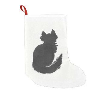 Gatito de la tinta bota navideña pequeña