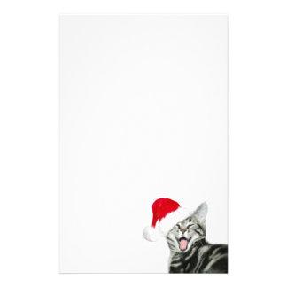 Gatito de las Felices Navidad Papelería