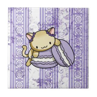 Gatito de Macaron Teja