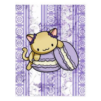 Gatito de Macaron Postales