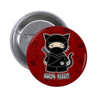 ¡Gatito de Ninja! En botón rojo Pins