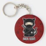 ¡Gatito de Ninja! En llavero rojo
