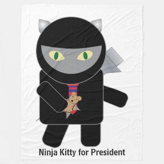 Gatito de Ninja para el presidente Manta De Forro Polar