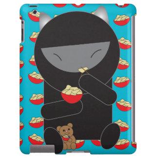Gatito de Ninja que come los tallarines