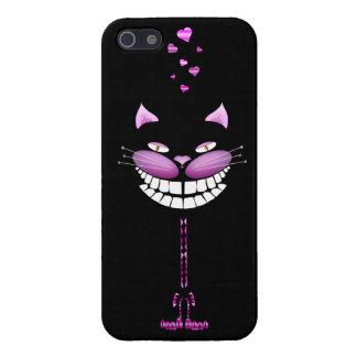 Gatito del amor. Gato sonriente rosado lindo de Ch iPhone 5 Funda