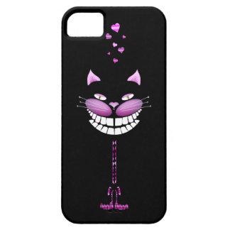 Gatito del amor. Gato sonriente rosado lindo de Funda Para iPhone 5 Barely There