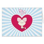 Gatito del amor - tarjeta