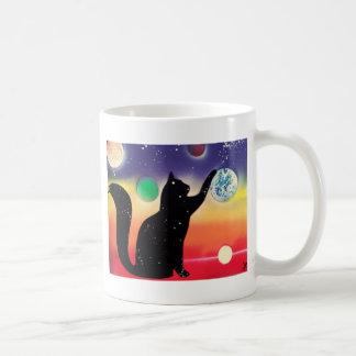 Gatito del anochecer taza