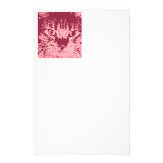 Gatito del arte pop papeleria personalizada