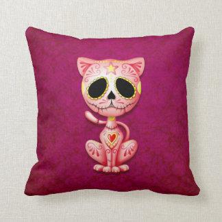 Gatito del azúcar del zombi, rosado cojin
