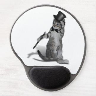 Gatito del baile de golpecito alfombrilla de raton con gel