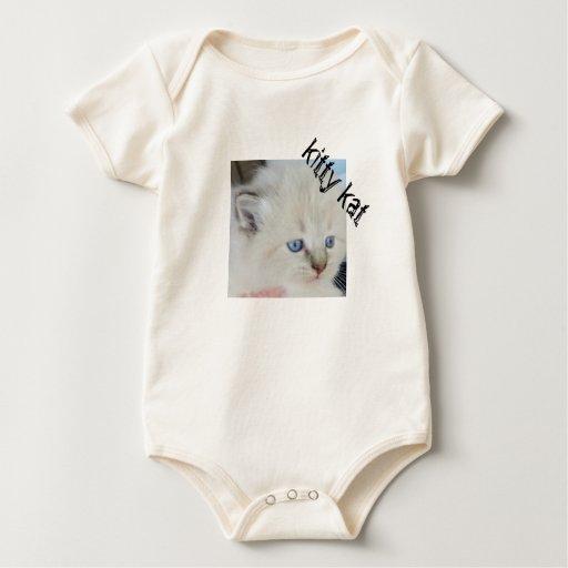 Gatito del bebé con diseño de la foto de los ojos body para bebé