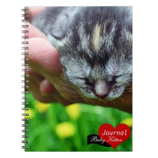 Gatito del bebé, los amantes del gato (cuaderno) libro de apuntes