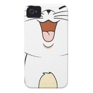 Gatito del blanco de Kawaii iPhone 4 Carcasas