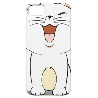 Gatito del blanco de Kawaii iPhone 5 Carcasa