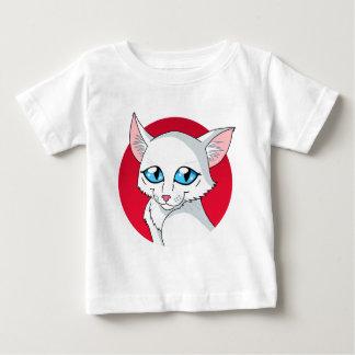 Gatito del blanco del dibujo animado playera para bebé