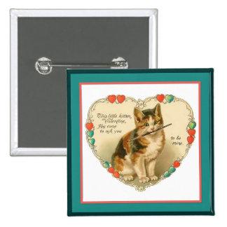 Gatito del calicó en corazón pin