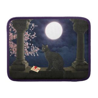 Gatito del claro de luna funda  MacBook