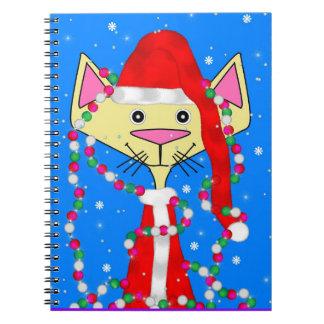 Gatito del día de fiesta spiral notebook
