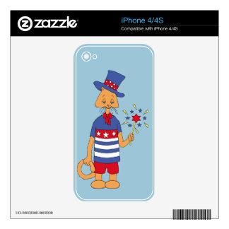 Gatito del Doodle del yanqui iPhone 4S Calcomanía