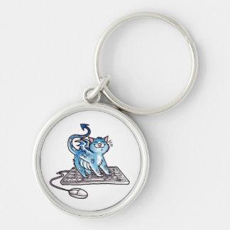 Gatito del dragón llaveros personalizados