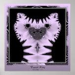 Gatito del fractal posters