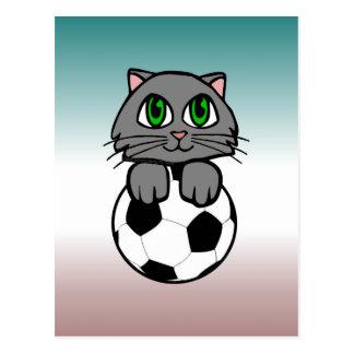 Gatito del fútbol postales