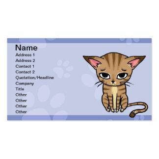 Gatito del gato de Tabby Tarjetas De Visita