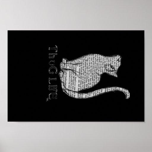 gatito del gato del gatito de la vida del gamberro impresiones
