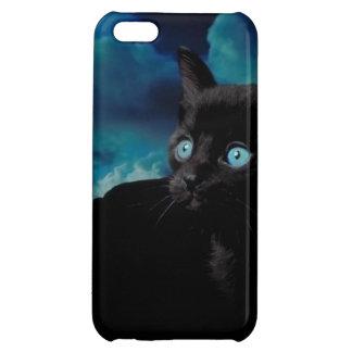 Gatito del gato negro del caso del iPhone 5 del ga