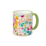 Gatito del jardín taza de café