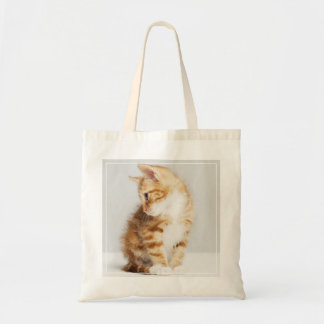 Gatito del jengibre bolsa tela barata