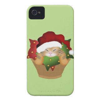 Gatito del navidad iPhone 4 carcasa